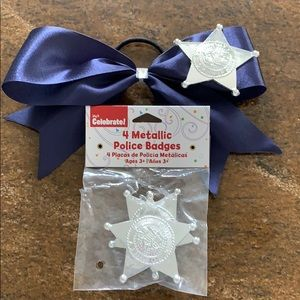 Other - Dress up/Halloween police badges and bow